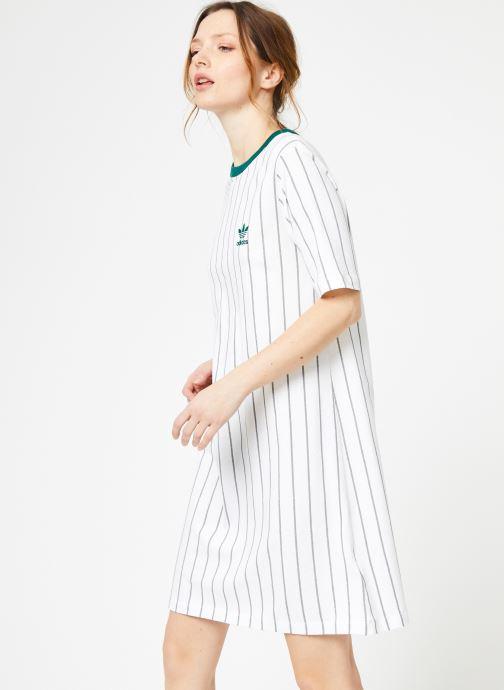 Vêtements adidas originals Tee Dress Blanc vue droite