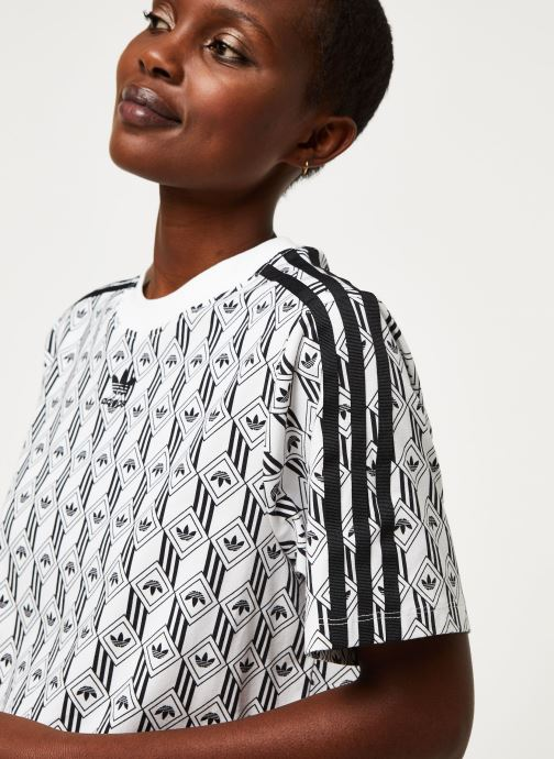 Vêtements adidas originals Tee Dress Blanc vue face