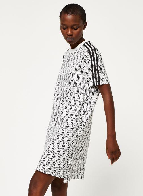 Vêtements adidas originals Tee Dress Blanc vue détail/paire
