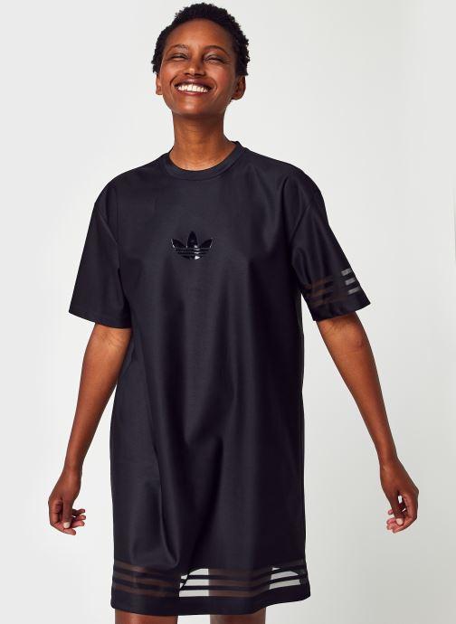Vêtements adidas originals Tee Dress Noir vue détail/paire