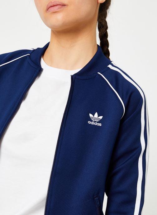 Kleding adidas originals Sst Tt Blauw voorkant