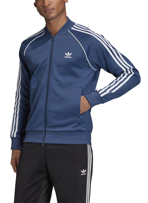 Vêtements adidas originals Sst Tt Bleu vue face