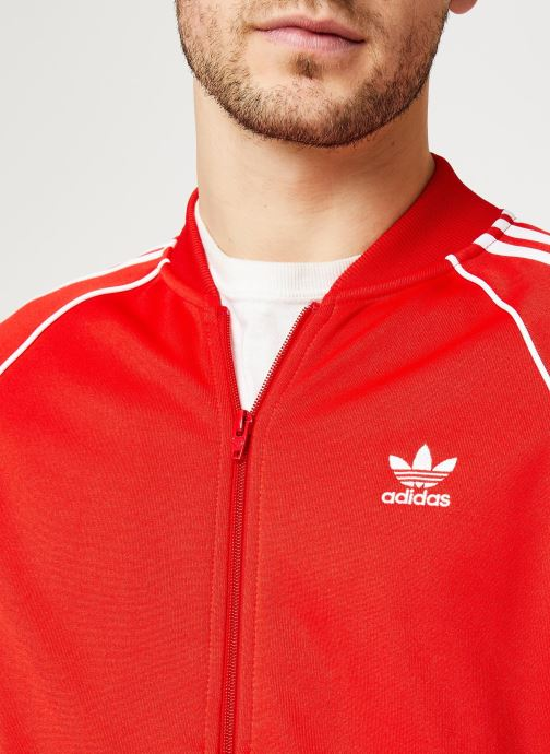 Vêtements adidas originals Sst Tt Rouge vue face