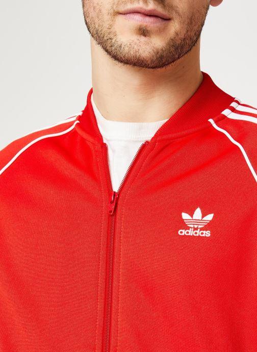 Vêtements adidas originals Sst Tt Rouge vue face