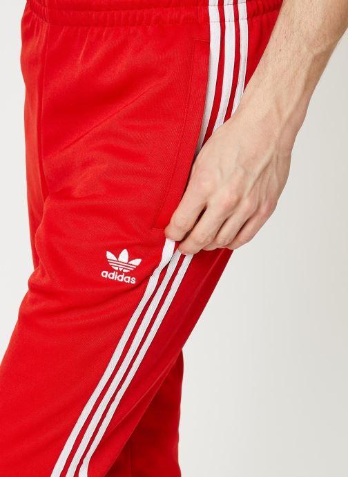 Vêtements adidas originals Sst Tp Rouge vue face
