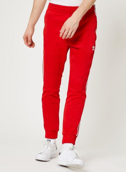 Vêtements adidas originals Sst Tp Rouge vue détail/paire
