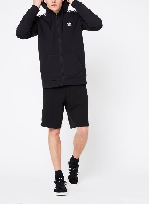 Vêtements adidas originals 3-Stripes Fz Noir vue bas / vue portée sac