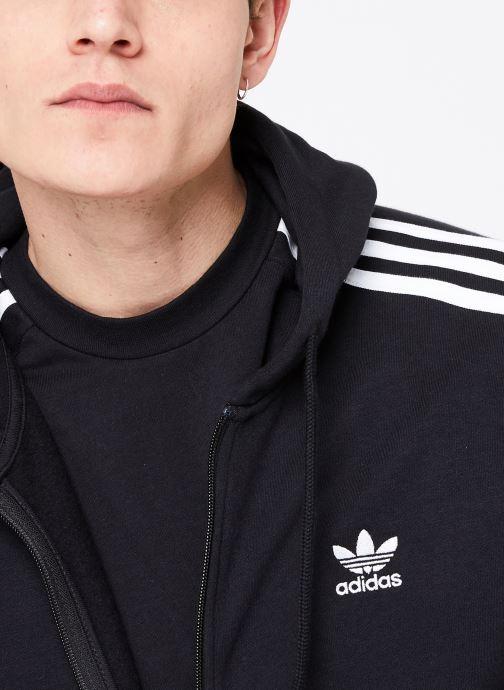 Vêtements adidas originals 3-Stripes Fz Noir vue face