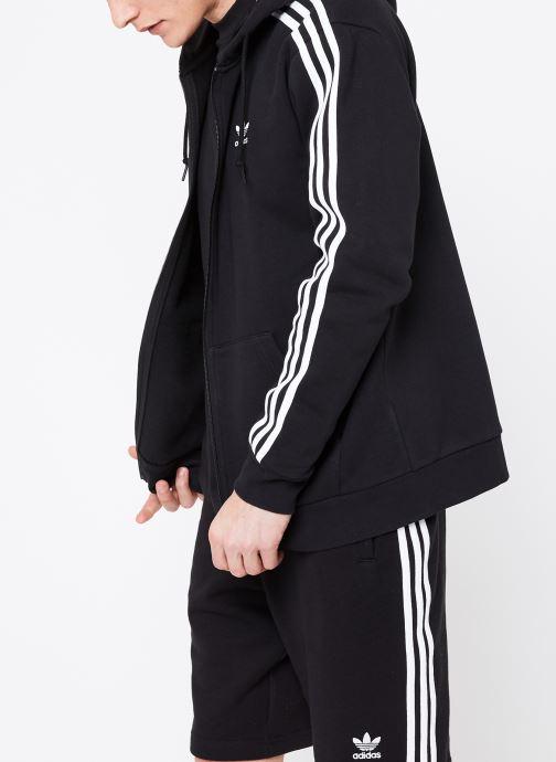 Vêtements adidas originals 3-Stripes Fz Noir vue droite