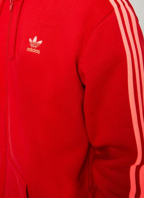 Vêtements adidas originals 3-Stripes Fz Rouge vue face