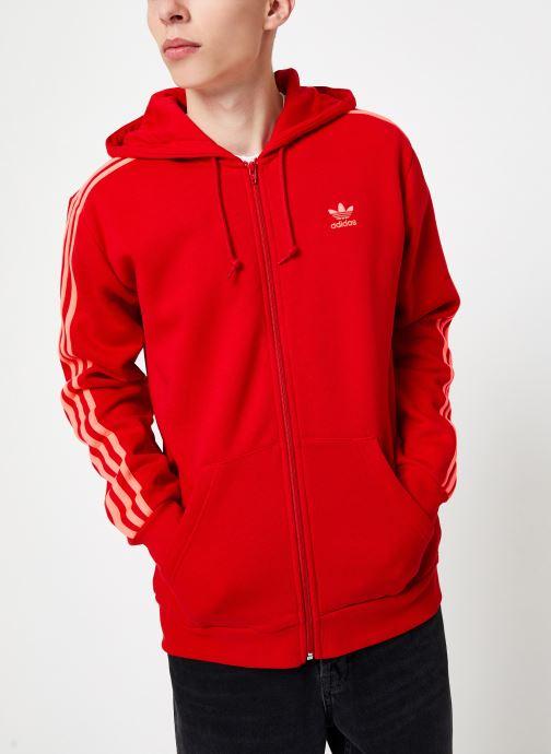 Vêtements adidas originals 3-Stripes Fz Rouge vue droite