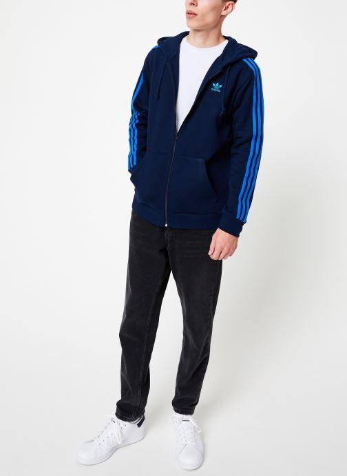 Tøj adidas originals 3-Stripes Fz Blå se forneden