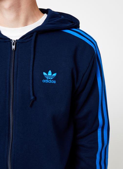 Vêtements adidas originals 3-Stripes Fz Bleu vue face