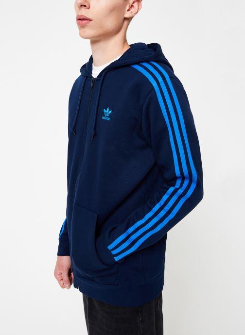 Vêtements adidas originals 3-Stripes Fz Bleu vue droite