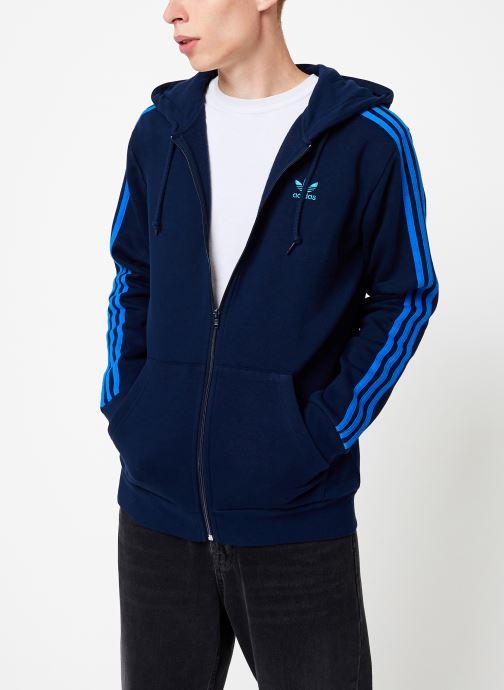 Vêtements adidas originals 3-Stripes Fz Bleu vue détail/paire