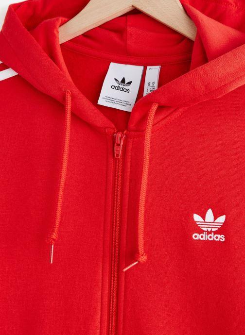 Vêtements adidas originals 3-Stripes Fz Rouge vue portées chaussures