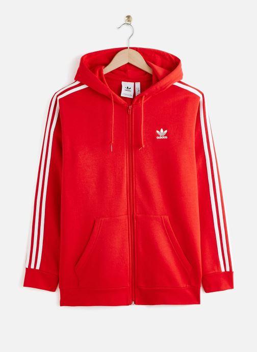 Vêtements adidas originals 3-Stripes Fz Rouge vue détail/paire