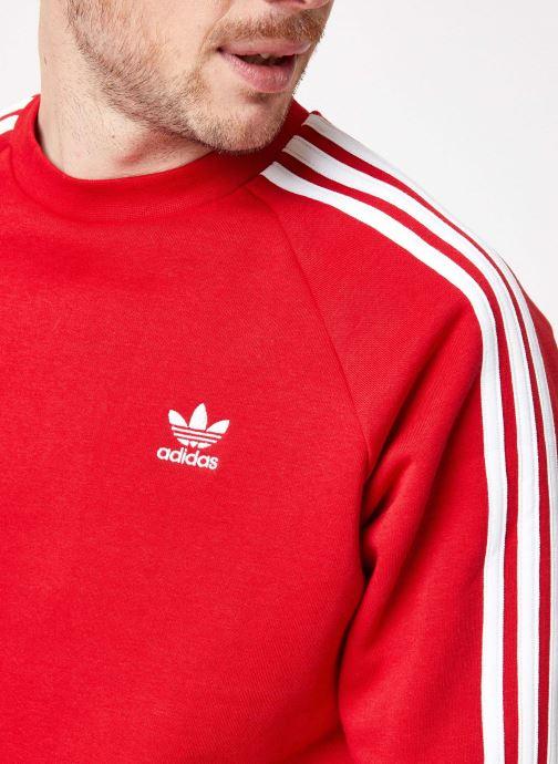 Vêtements adidas originals 3-Stripes Crew Rouge vue face