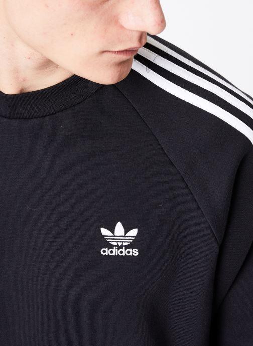 Vêtements adidas originals 3-Stripes Crew Noir vue face