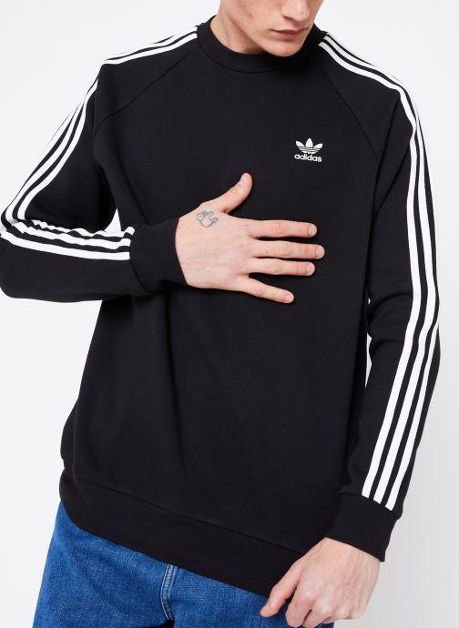 Vêtements adidas originals 3-Stripes Crew Noir vue détail/paire