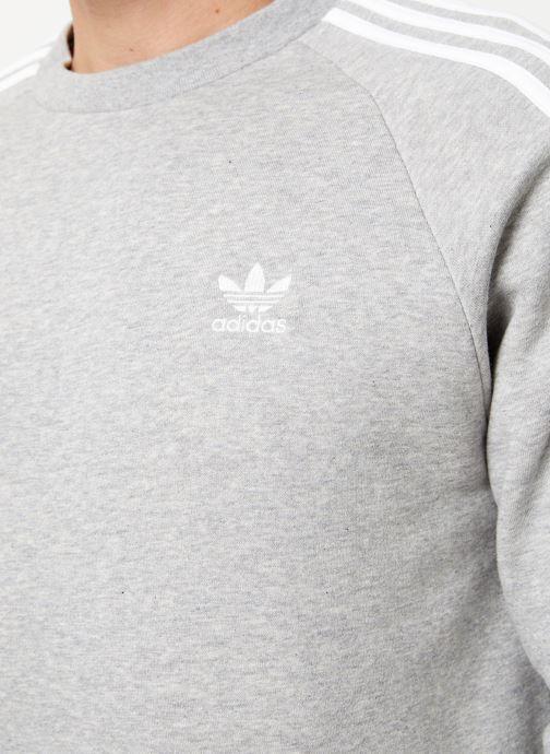 Vêtements adidas originals 3-Stripes Crew Gris vue face