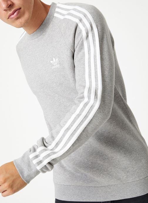 Vêtements adidas originals 3-Stripes Crew Gris vue détail/paire
