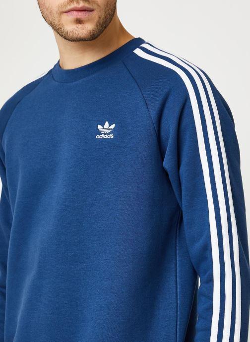 Vêtements adidas originals 3-Stripes Crew Bleu vue face