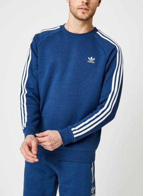 Vêtements adidas originals 3-Stripes Crew Bleu vue détail/paire