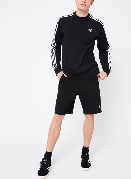 Vêtements adidas originals 3-Stripes Ls T Noir vue bas / vue portée sac