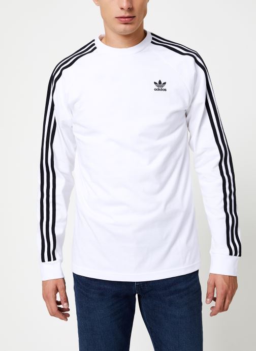 Kleding adidas originals 3-Stripes Ls T Wit detail