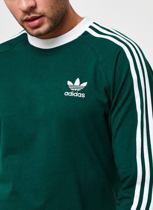 Vêtements adidas originals 3-Stripes Ls T Vert vue face