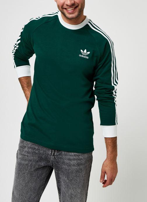 Vêtements adidas originals 3-Stripes Ls T Vert vue détail/paire