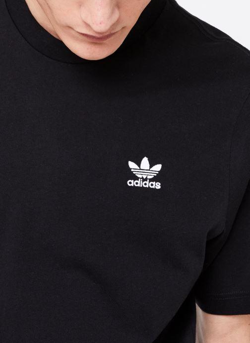 Vêtements adidas originals Essential T Noir vue face