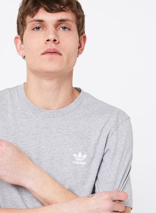 Vêtements adidas originals Essential T Gris vue face