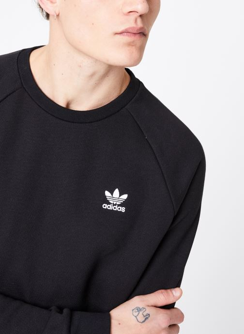 Vêtements adidas originals Essential Crew Noir vue face