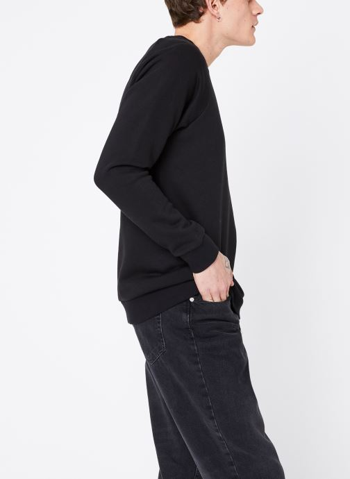 Vêtements adidas originals Essential Crew Noir vue droite
