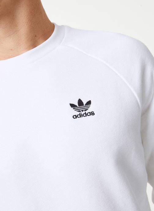 Vêtements adidas originals Essential Crew Blanc vue face
