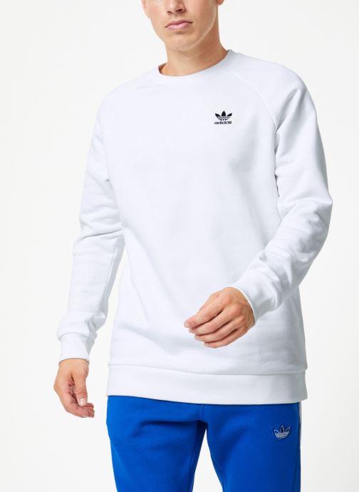 Vêtements adidas originals Essential Crew Blanc vue droite