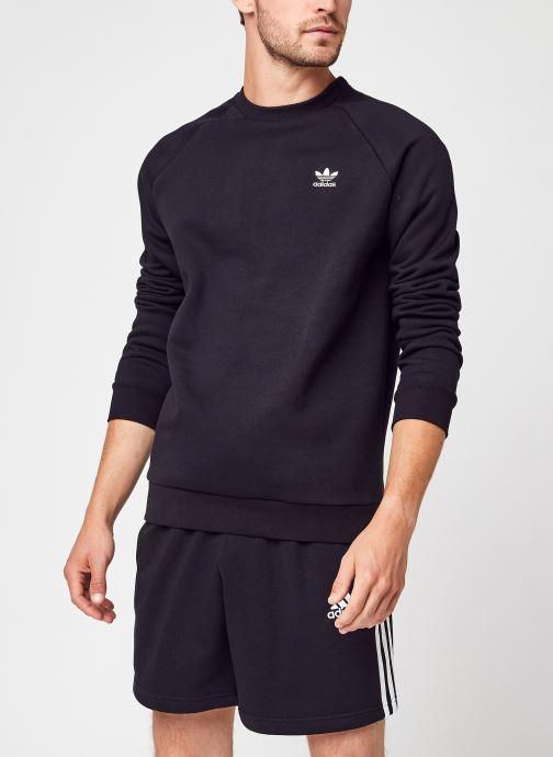 Vêtements adidas originals Essential Crew Noir vue détail/paire