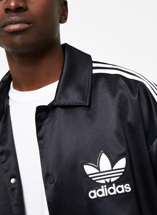 Kleding adidas originals Satin Coach Zwart voorkant