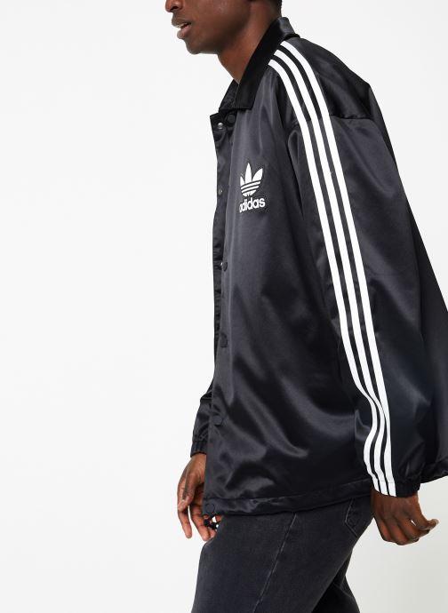 Kleding adidas originals Satin Coach Zwart rechts