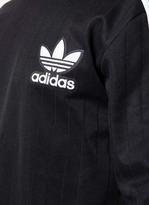 Kleding adidas originals Baseball Crew Zwart voorkant