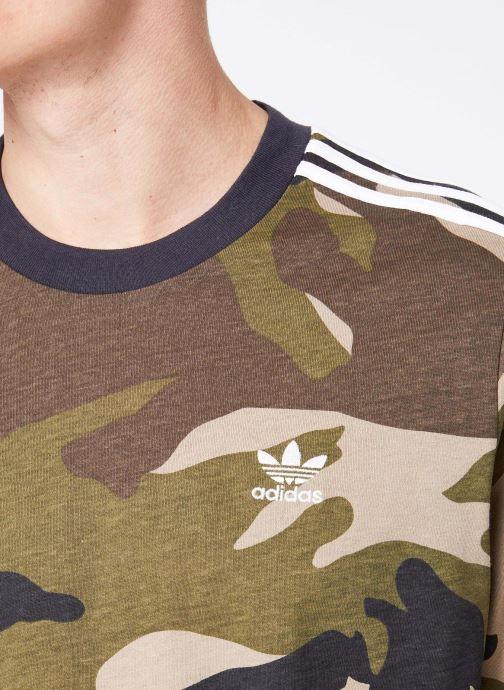 Vêtements adidas originals Camo Ls Tee Vert vue face