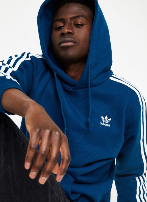 Kleding adidas originals Monogram Hoody Blauw voorkant