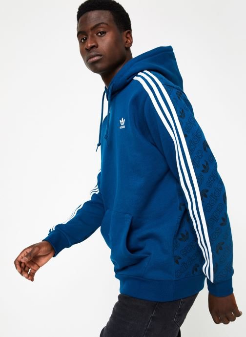 Kleding adidas originals Monogram Hoody Blauw rechts