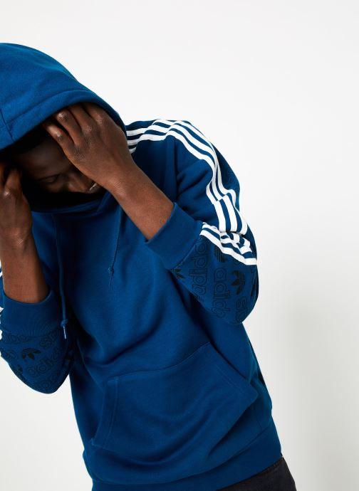 Kleding adidas originals Monogram Hoody Blauw detail
