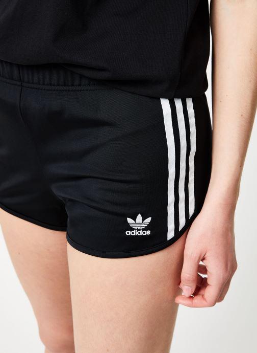 Vêtements adidas originals 3 Stripes Short Noir vue face