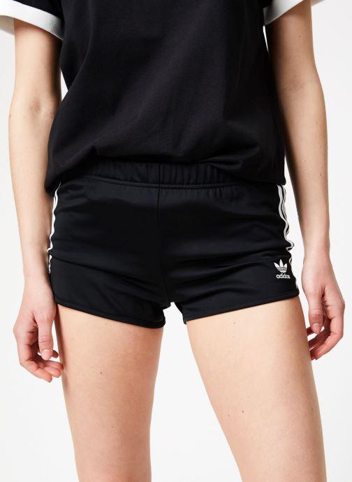 Vêtements adidas originals 3 Stripes Short Noir vue détail/paire