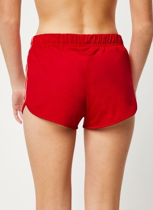 Vêtements adidas originals 3 Stripes Short Rouge vue portées chaussures