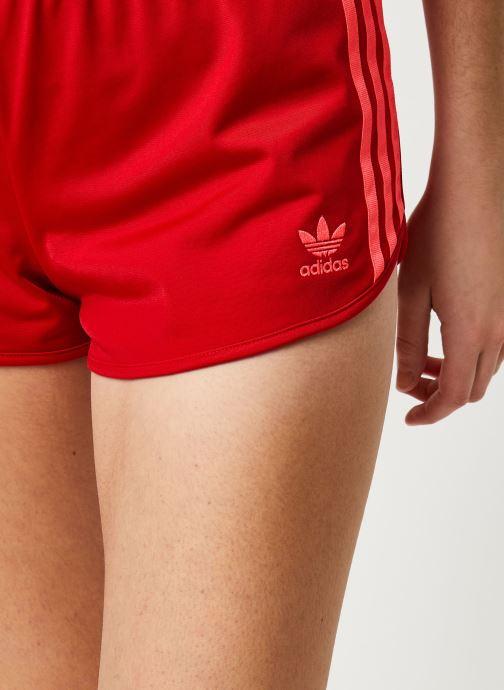 Vêtements adidas originals 3 Stripes Short Rouge vue face